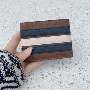 NWT Authentic Coach Men's Leather Bifold Wallet